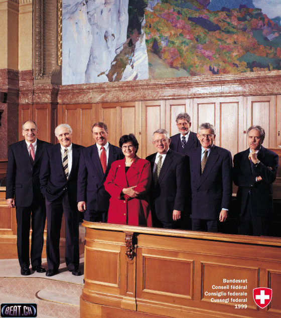 Bundesrat 1999 Janur bis April - Bundespräsidentin: Ruth Dreifuss